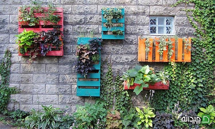 15 ایده ارزان با پالت و جعبه چوبی میوه در دکوراسیون منزل